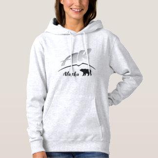 Alaska (AK) Kodiak brown bear - Black Logo Hoodie