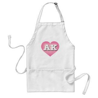 Alaska AK pink fade heart Standard Apron