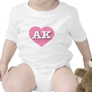 Alaska AK pink heart Bodysuits
