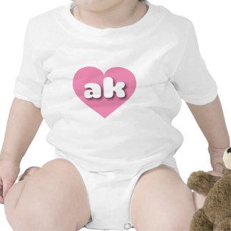 Alaska ak pink heart bodysuit