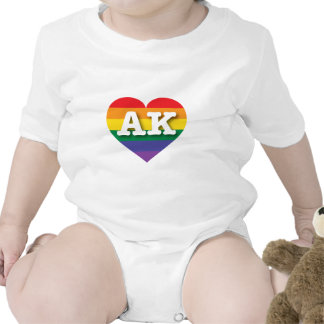 Alaska AK rainbow pride heart Bodysuit