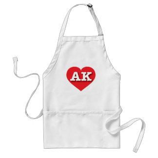Alaska AK red heart Standard Apron