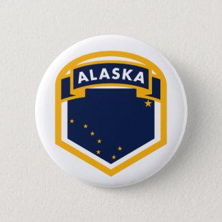 Alaska AK State Flag Logo Button