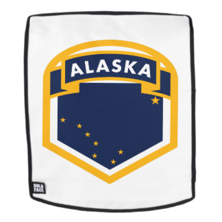 Alaska AK State Flag Shield Backpack
