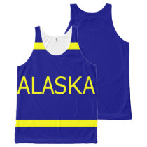 Alaska All-Over Printed Unisex Tank