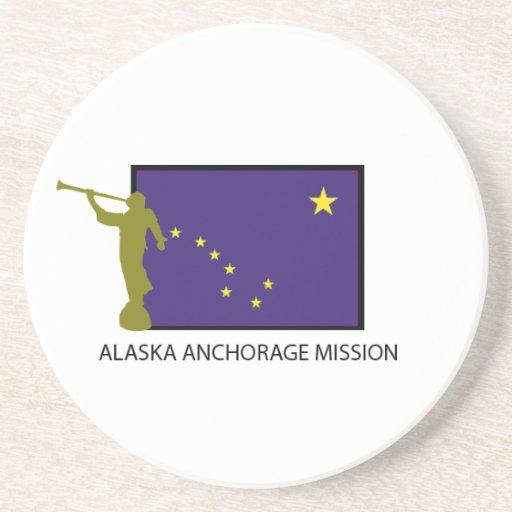 ALASKA ANCHORAGE MISSION LDS CTR DRINK COASTERS