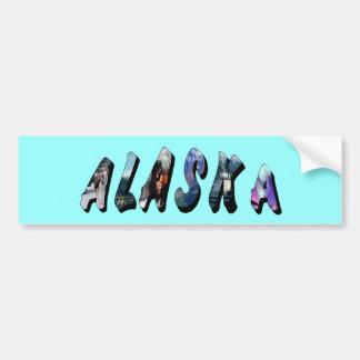Alaska and USA Flag Text Bumper Sticker