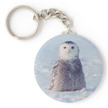 Alaska Arctic Winter Snowy Owl Keychain