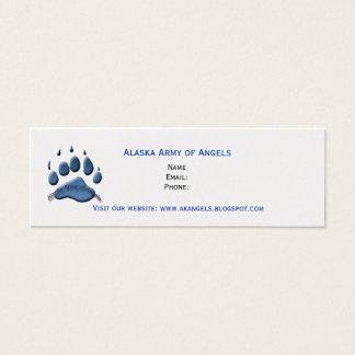 Alaska Army of Angels mini card blue paw