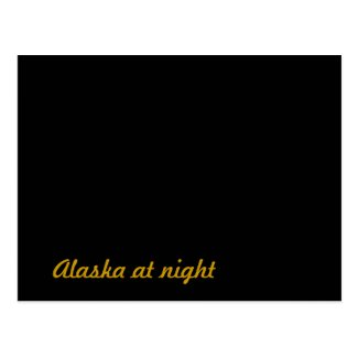 Alaska at night postcard