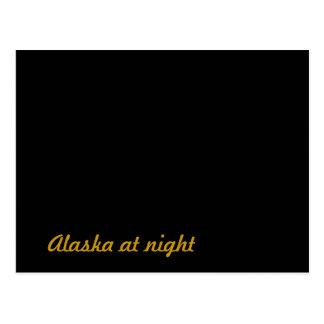 Alaska at night postcard