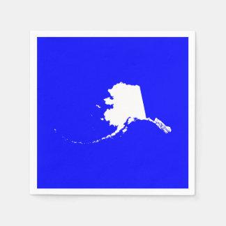 Alaska azul y blanca servilleta de papel