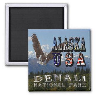 Alaska Bald Eagle Mt McKinley Magnet