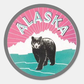 Alaska Bear Classic Round Sticker