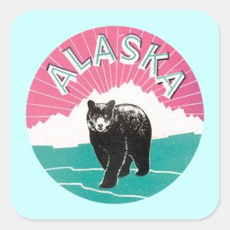 Alaska Bear Square Sticker