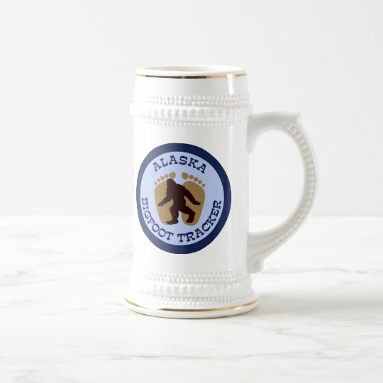 Alaska Bigfoot Tracker Beer Stein