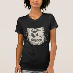 Women's American Apparel Fine Jersey Short Sleeve T-Shirt with Alaska Birder design