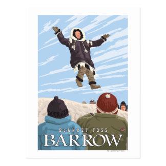 Alaska Blanket Toss - Barrow, Alaska Postcard