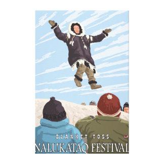 Alaska Blanket Toss - Nalukataq Festival, Canvas Print