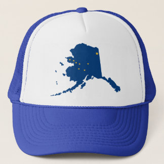 Alaska Blue Snap Back Mesh Trucker Hat