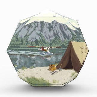 Alaska Bush Plane And Fishing Travel Acrylic Award