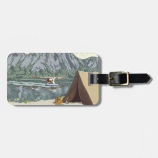 Alaska Bush Plane And Fishing Travel Bag Tag