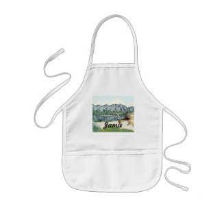 Alaska Bush Plane And Fishing Travel Kids' Apron