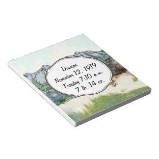 Alaska Bush Plane And Fishing Travel Memo Notepad