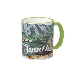 Alaska Bush Plane And Fishing Travel Coffee Mugs