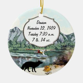 Alaska Bush Plane And Fishing Travel Christmas Tree Ornaments