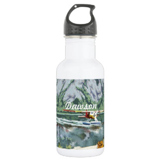 Alaska Bush Plane And Fishing Travel 18oz Water Bottle