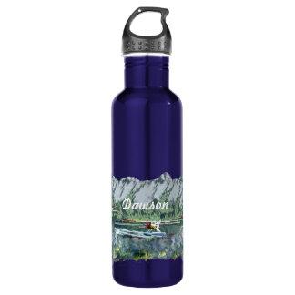 Alaska Bush Plane And Fishing Travel 24oz Water Bottle