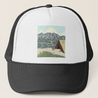 Alaska Bush Plane And Fishing Travel Trucker Hat