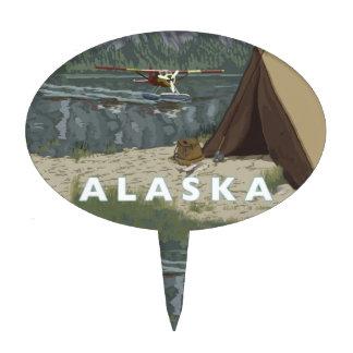 Alaska Bush Plane Party End of Trip Cake Topper