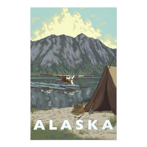 Alaska Bush Plane Souvenirs Customized Stationery