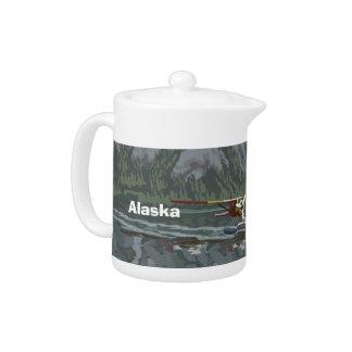 Alaska Bush Plane Souvenirs Teapot