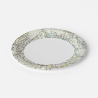 Alaska, Canada, Greenland 7 Inch Paper Plate