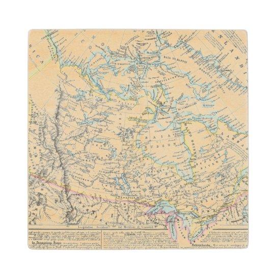 Alaska, Canada, Greenland Wooden Coaster