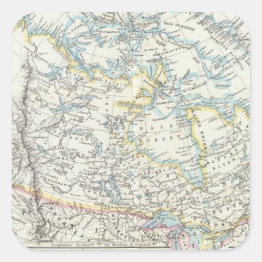 Alaska, Canadá, Groenlandia Calcomanías Cuadradas Personalizadas