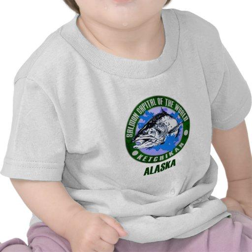 Alaska - capital de color salmón del mundo camisetas