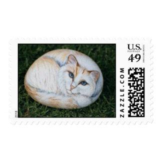 """Alaska"" cat rock stamp"