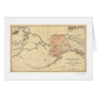 Alaska cedió por el mapa 1867 de Rusia Tarjeta De Felicitación