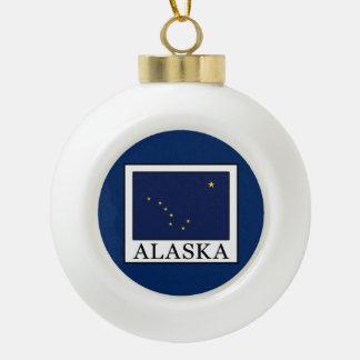 Alaska Ceramic Ball Christmas Ornament