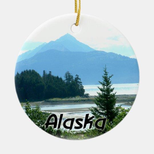Alaska Ceramic Christmas Ornament