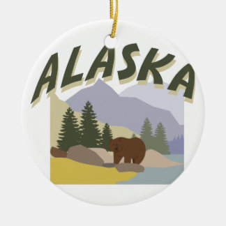 Alaska Ceramic Ornament