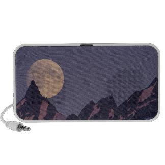Alaska, Chugach Mountains Full moon rises iPod Speakers
