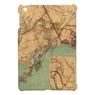Alaska Coal and Gold Map Cover For The iPad Mini