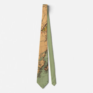 Alaska Coal and Gold Map Neck Tie