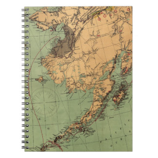 Alaska Coal and Gold Map Spiral Note Books