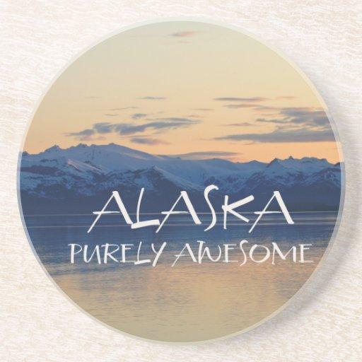 Alaska Coast - Purely Awesome Beverage Coaster